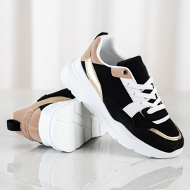 SHELOVET Stylish sneakers with mesh black 1