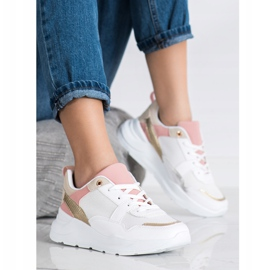 SHELOVET Stylish Sneakers With Mesh white multicolored 3