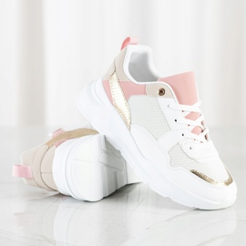 SHELOVET Stylish Sneakers With Mesh white multicolored 2