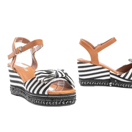 Black and white wedge sandals from Dulce 1