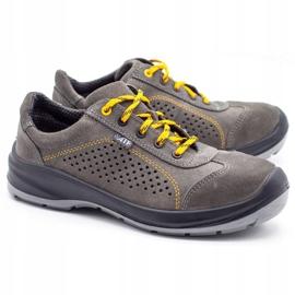 ŁUKPOL Gray Techwork 1128 men's working shoes grey 2