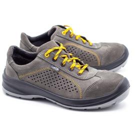 ŁUKPOL Gray Techwork 1128 men's working shoes grey 3