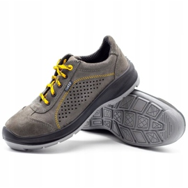 ŁUKPOL Gray Techwork 1128 men's working shoes grey 4