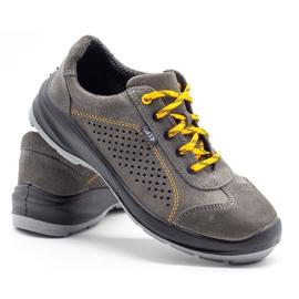ŁUKPOL Gray Techwork 1128 men's working shoes grey 5