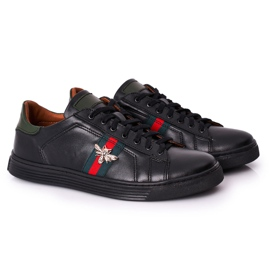 Bednarek Polish Shoes Men's Leather Shoes Sneakers Bednarek Black 6