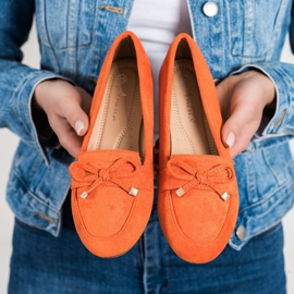 Anesia Paris Loafers With A Bow orange 3