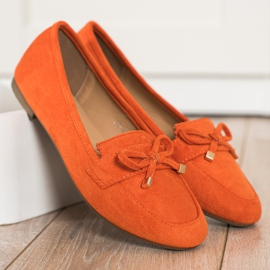 Anesia Paris Loafers With A Bow orange 4