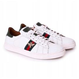 Bednarek Polish Shoes Men's Leather Shoes Sneakers Bednarek White 4