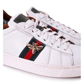 Bednarek Polish Shoes Men's Leather Shoes Sneakers Bednarek White 3