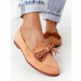 EVE Fringed Suede Loafers Camel Alicante brown 3