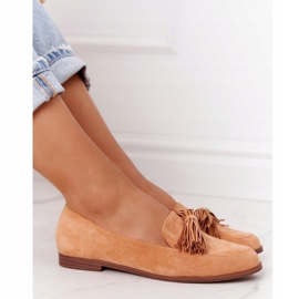 EVE Fringed Suede Loafers Camel Alicante brown 1