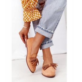 EVE Fringed Suede Loafers Camel Alicante brown 2