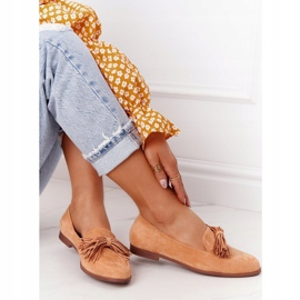 EVE Fringed Suede Loafers Camel Alicante brown 6