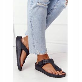 NEWS Women's Rubber Flip-flops Black Alma 4