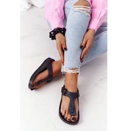 NEWS Women's Rubber Flip-flops Black Alma 5