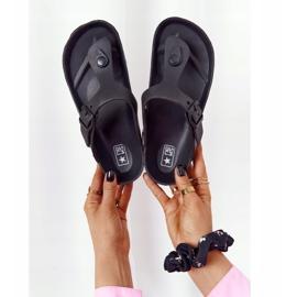 NEWS Women's Rubber Flip-flops Black Alma 1