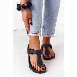 NEWS Women's Rubber Flip-flops Black Alma 2