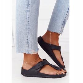 NEWS Women's Rubber Flip-flops Black Alma 3