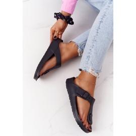 NEWS Women's Rubber Flip-flops Black Alma 6