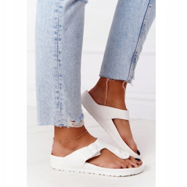 NEWS Women's Rubber Flip-flops White Alma 3