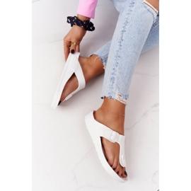 NEWS Women's Rubber Flip-flops White Alma 1