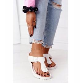 NEWS Women's Rubber Flip-flops White Alma 2
