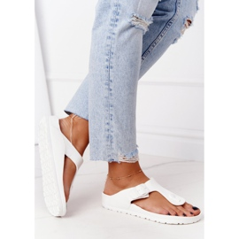NEWS Women's Rubber Flip-flops White Alma 4