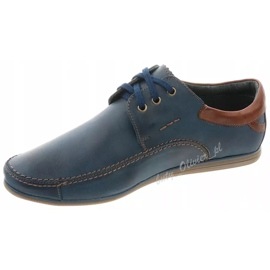 Mario Pala Men's leather shoes 594 navy blue 3