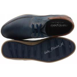 Mario Pala Men's leather shoes 594 navy blue 5