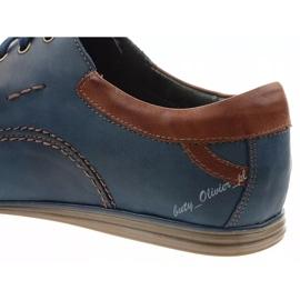 Mario Pala Men's leather shoes 594 navy blue 4