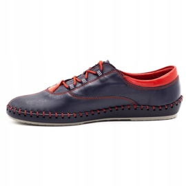 Olivier Casual men's shoes 312K navy blue grain 4