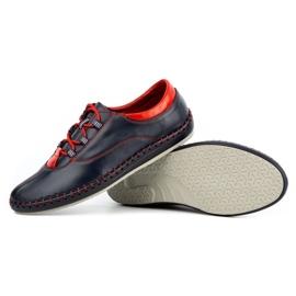 Olivier Casual men's shoes 312K navy blue grain 6