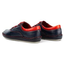 Olivier Casual men's shoes 312K navy blue grain 8