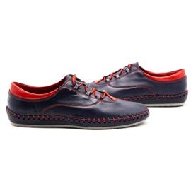 Olivier Casual men's shoes 312K navy blue grain 9