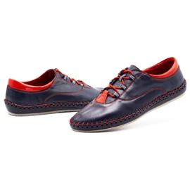 Olivier Casual men's shoes 312K navy blue grain 10