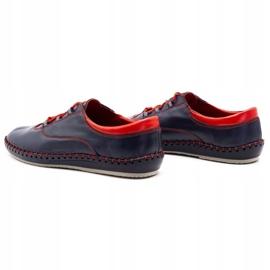 Olivier Casual men's shoes 312K navy blue grain 11
