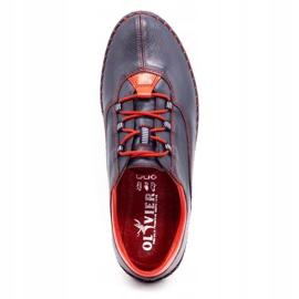 Olivier Casual men's shoes 312K navy blue grain 1