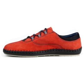 Olivier Casual men's shoes 312K red nubuck 4
