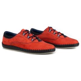 Olivier Casual men's shoes 312K red nubuck 5