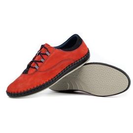 Olivier Casual men's shoes 312K red nubuck 6