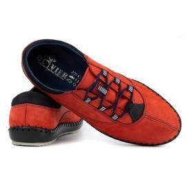 Olivier Casual men's shoes 312K red nubuck 7