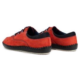 Olivier Casual men's shoes 312K red nubuck 8