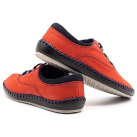 Olivier Casual men's shoes 312K red nubuck 3