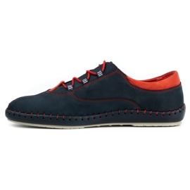Olivier Men's casual shoes 312K navy blue nubuck 3