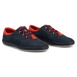 Olivier Men's casual shoes 312K navy blue nubuck 4