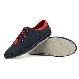 Olivier Men's casual shoes 312K navy blue nubuck 5