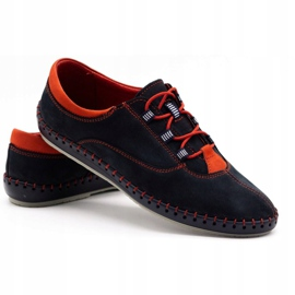 Olivier Men's casual shoes 312K navy blue nubuck 6