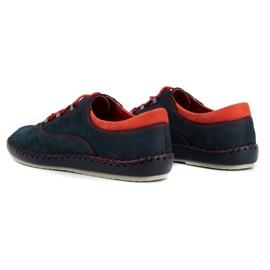 Olivier Men's casual shoes 312K navy blue nubuck 7