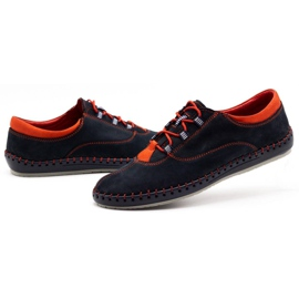 Olivier Men's casual shoes 312K navy blue nubuck 8
