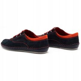 Olivier Men's casual shoes 312K navy blue nubuck 9